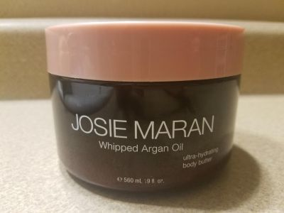 BRAND NEW HUGE JOSIE MARAN WHIPPED ARGAN OIL ULTRA HYDRATING BODY BUTTER, 19 OZ., 2 PICTURES