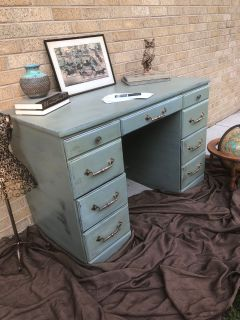 Desk. Vintage 6 drawers. Cross posted. 22x44x30.