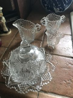 Old glass dishes