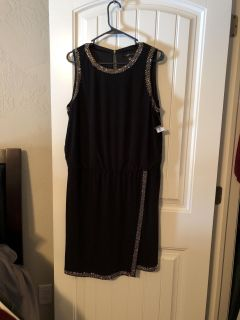 Black Dress with Gold Embellishment. NWT.