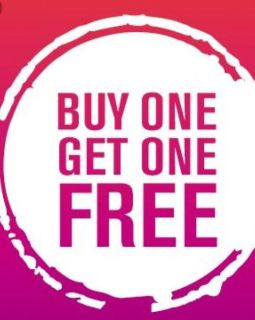Buy one get one free until Sunday
