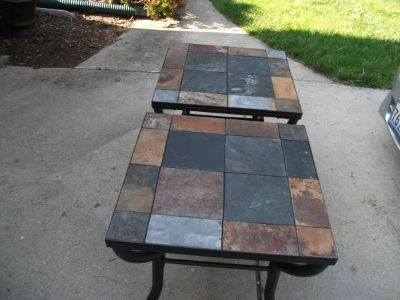 TILED END TABLES NEW MUST SEE
