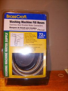 BrassCraft 2-Pack 6-ft Stainless Steel Washing Machine Hoses NIB