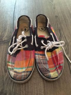 Girls size 2 boat shoes