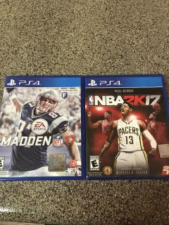 PS4 GAMES: MADDEN NFL 17 and NBA 2K17