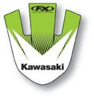 Sell Factory Effex Front Fender Sticker KX125-500 93-02 Kawasaki 14-30118 13-0304 motorcycle in Loudon, Tennessee, US, for US $16.76