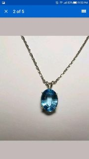 Natural Oval Cut Swiss Topaz necklace, 7.12cts