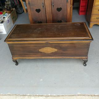 Caswell Runyan Cedar Chest with Tray. Restained and Polished. Wear on top 49x22x21