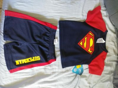 12 month superman summer outfit