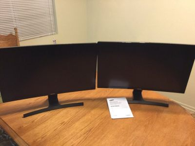27 inch Samsung Curved Monitor (Pair)