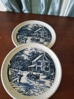 Made in the USA antique plates