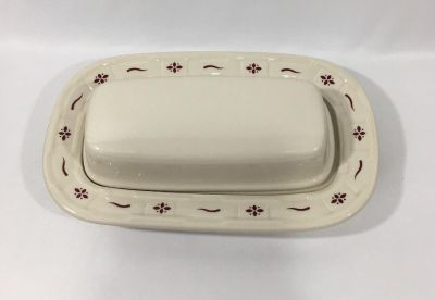 Longaberger butter dish made in USA