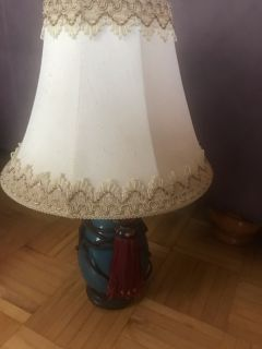 Antique lamp with shade
