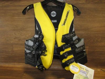 Find Seadoo Jet Ski Brand New Life Jacket Yellow Adult Medium 285-460-0610 motorcycle in Cairo, Nebraska, United States, for US $55.00