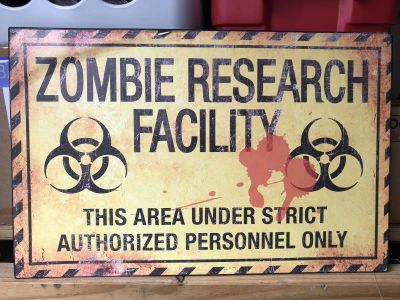 Medal zombie Halloween signs