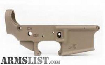 For Sale: Aero Precision AR15 Stripped Lower Receiver, Gen 2 - FDE Cerakote