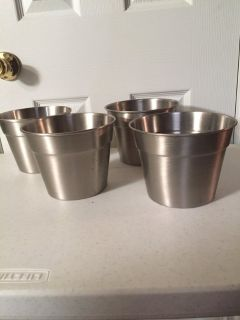 6 Stainless Steel Planters (price each)