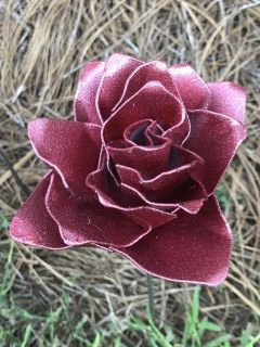 Home and Garden - Recycled Steel Handpainted Rose