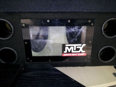 """MTX 8"""" Dual Subwoofer box(Reduced)"""