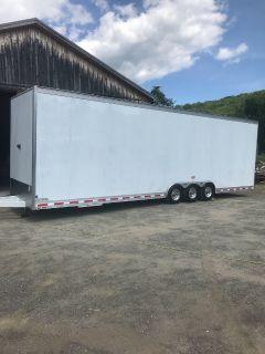 T&E all ALUMINUM 34ft stacker trailer