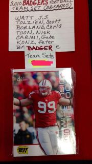 ISO 2010 Wisconsin Badger team set or cards