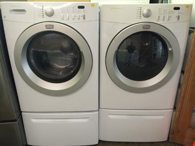 $799, Frigidaire Affinity Washer and Electric Dryer Set in White