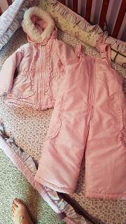 Toddler girls winter jacket and snowpants size 24 months $15