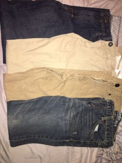 Men s size 29/30 Pants and shorts