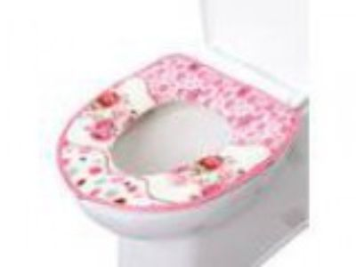 Qianle Soft Flannel Toilet Seat Cover Toilet Tank Cover Bathroom
