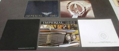 Find 1961 62 63 64 65 Chrysler Imperial Sales Brochure Set Crown Custom Le Baron motorcycle in Holts Summit, Missouri, United States, for US $44.65