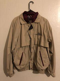 Beige zip up jacket
