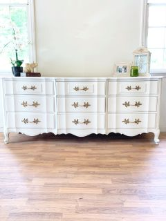 French Provincial Triple Dresser