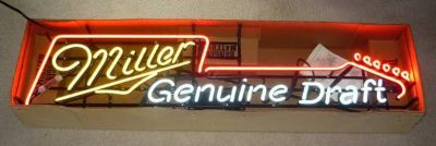Miller Genuine Draft Guitar Neon Beer Sign