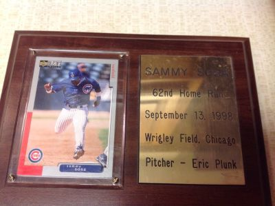 MINT 1998 Upper Deck Sammy Sosa 330 Collecter's Choice Home Run Wrigley Field