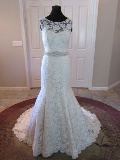 Audrey's Sheath Lace Wedding Gown