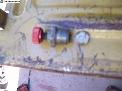 oil relief valve cap adjustable