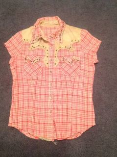 Miss Me embellished girls button down shirt