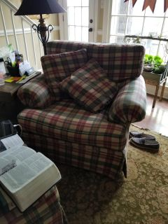 Chair and 1/2 Plus Ottoman