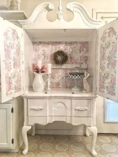 Custom Painted Cabinet