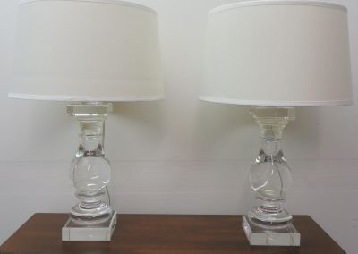 Crystal Clear Table Lamps Set