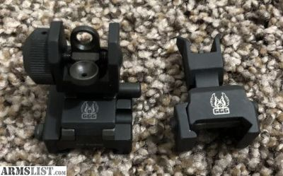 For Sale: GG&G Front and Rear Flip Up Iron Signts