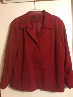Red wool coat - size 2X