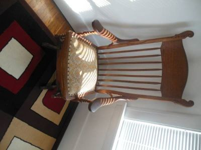 Nice Antique Wooden Rocking Chair