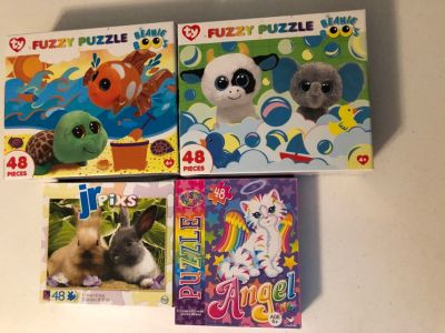 Beanie Boo s and animal puzzles - 48 pieces each