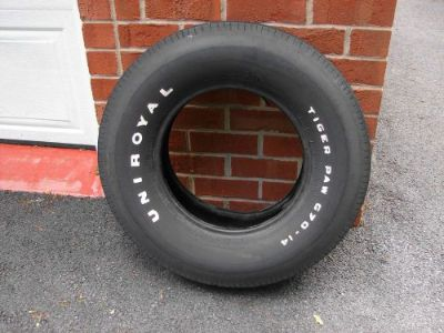 Sell UNIROYAL TIGER PAW 70 WHITE LETTER TIRE G70-14 70 71 72 GTO 442 ELCAMINO GS motorcycle in East Earl, Pennsylvania, United States, for US $399.00