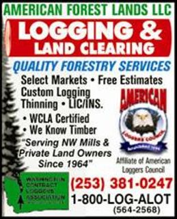 TIMBER LOGGING WASHINGTON, CLEARING TREE, LAND PROPERTY, 1-800-LOG- ALOT
