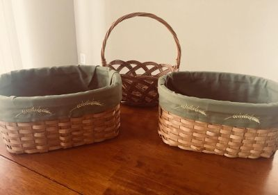 3 Decorative Baskets. Great for Fall!