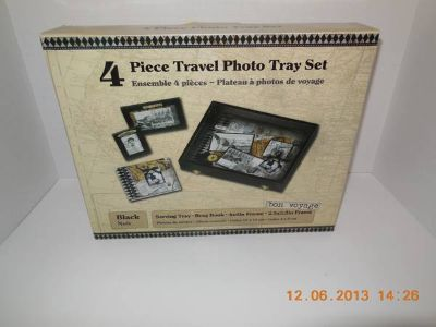 4 piece Travel Photo Tray (black)