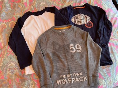 Lot of 3 boys long sleeved tees size Small(6/7)