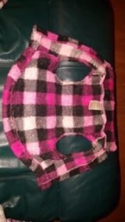 PINK PLAID DOG SWEATER